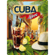 Plaque en métal 30 X 40 cm Cocktail Cuba Libre