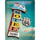 Plaque en métal 30 X 40 cm Route 66 : The 66 Motel