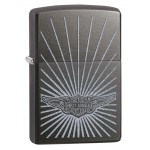 Briquet essence Zippo Harley-Davidson BAR & SHIELD sur fond gris