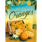 Plaque en métal 30 X 40 cm : Oranges de Californie