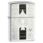 Zippo briquet essence AS DE PIQUE CHROME (CHANCE - POKER) - WINDPROOF LIGHTER