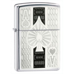 briquet essence zippo as de pique chrom chance et poker deco envie com. Black Bedroom Furniture Sets. Home Design Ideas