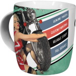 Tasse à café (coffee mug) Best garage moto - Pin-up