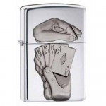 Briquet essence Zippo full probable des rois pas les as - chance- poker