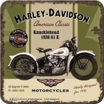 Sous-verre Harley-Davidson Knucklehead 1936 61 E