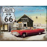 Magnet 8 x 6 cm Route 66 : the mother road