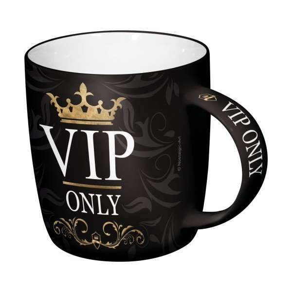 tasse caf coffee mug vip only. Black Bedroom Furniture Sets. Home Design Ideas