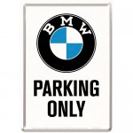Plaque en métal 14 X 10 cm BMW Parking Only