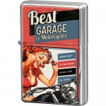 Briquet à essence rouge clair : Best garage avec pin-up en bikini