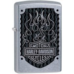 Briquet essence Zippo Harley-Davidson Bar & Shield et flammes noires