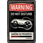 "Plaque en métal 20 X 30 cm ""Warning - Do not disturb..."" - ""Attention - Ne pas déranger..."""