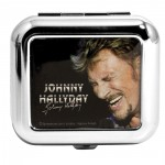 Cendrier de poche Johnny Hallyday en train de chanter