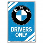 Plaque en métal 14 X 10 cm BMW Drivers Only