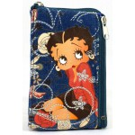 Bourse Betty Boop Jeans et broderies