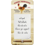 Bloc-notes aimanté : good morning