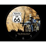"Horloge murale : Route 66 ""The mother road"""