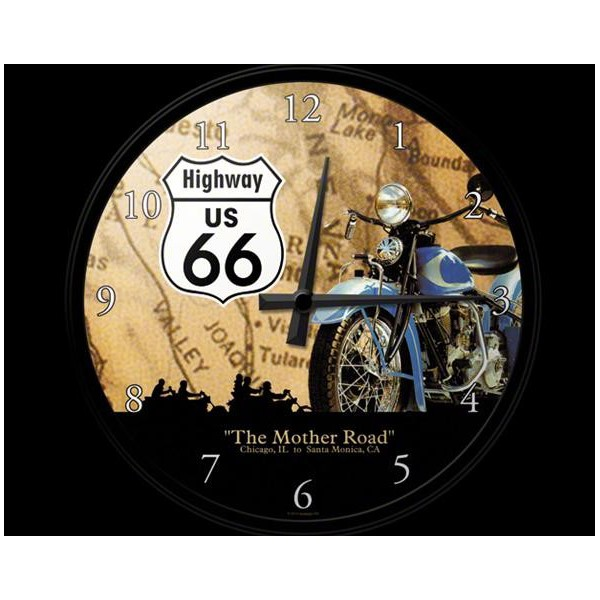 Horloge murale route 66 the mother road deco envie com for Decoration murale route 66