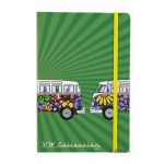 Carnet de notes (Notebook) VW Volkswagen T1 Bulli Flower Power - Peace and love