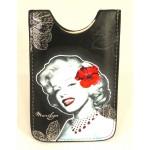 Housse téléphone portable Marilyn Monroe Fleurs