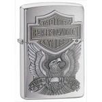 Briquet essence Zippo Harley-Davidson chromé Aigle et Emblème