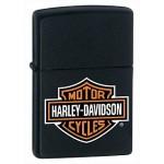 Briquet essence Zippo Harley-Davidson Logo noir mat
