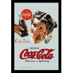 Cadre miroir Vintage années 50 Coca-Cola