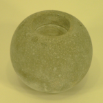 Photophore rond en pierre pour bougie chauffe-plat