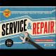 Magnet 8 x 6 cm Service & Repair