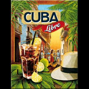 Magnet 8 x 6 cm Cocktail Cuba Libre