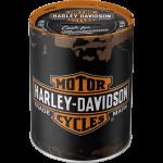 Tirelire métallique ronde Harley-Davidson