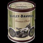 Tirelire métallique ronde Harley-Davidson Knucklehead