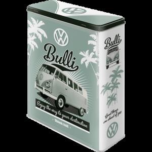 Boîte en métal rectangulaire XL VW Volkswagen T1 Bulli