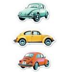 Set de 3 magnets VW Volkswagen : Coccinelle (Beetle) couleur