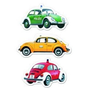 Set de 3 magnets VW Volkswagen : Coccinelle (Beetle) - Véhicules utilitaires