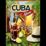 Plaque en métal 30 X 40 cm Cocktail Cuba Libre