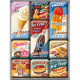 Set de 9 magnets : Vintage Usa American Diner : hamburger, hot-dog, donut, cola, pancake