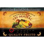 Plaque en métal 20 X 30 cm : Fruits
