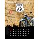 Plaque en métal 30 X 40 cm Route 66 : Calendrier Perpétuel