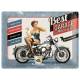 Plaque en métal 30 X 40 cm Pin-up Best garage : Motos