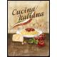 Plaque en métal 30 X 40 cm Cucina Italiana - Cuisine italienne
