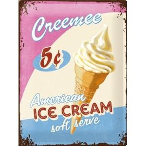 Plaque en métal 30 X 40 cm Ice cream - Crème glacée