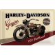 Plaque en métal 20 X 30 cm Harley-Davidson : moto 750 Flathead