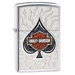 Briquet essence Zippo Harley-Davidson BAR & SHIELD et as de pique