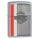 Briquet essence Zippo Harley-Davidson BAR & SHIELD fond aspect tôlé
