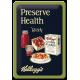 """Plaque en métal 20 X 30 cm Kellogg's : """"Preserve Health"""""""