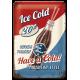 "Plaque en métal 20 X 30 cm Vintage Usa : ""Ice Cold"" Cola"