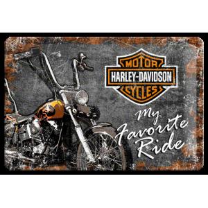 Plaque en métal 20 X 30 cm Harley-Davidson : my favorite ride