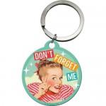 Porte-clés rond : Don't forget me - Ne m'oublie pas
