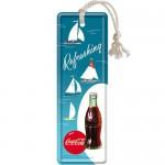 Marque-pages en métal : Coca-Cola Fraîcheur du large