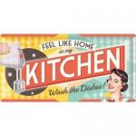 Plaque en métal 25 x 50 cm: Kitchen - Cuisine